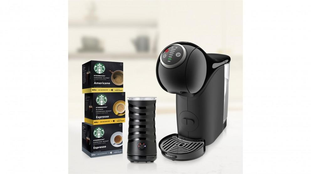 Nescafe Dolce Gusto Starbucks GenioS Plus Black Bundle with Frother