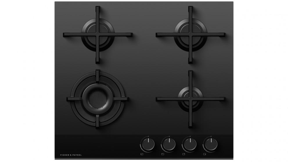 Fisher & Paykel 600mm 4 Burner LPG Gas on Glass Cooktop