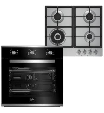 Beko 60cm Built In Multifunction Oven and 60cm Gas Cooktop – Cooking Pack BCPGCR1