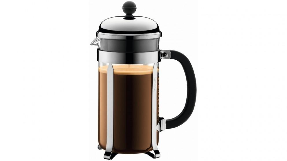 Bodum 1L Chambord French Press Coffee Maker – Stainless Steel