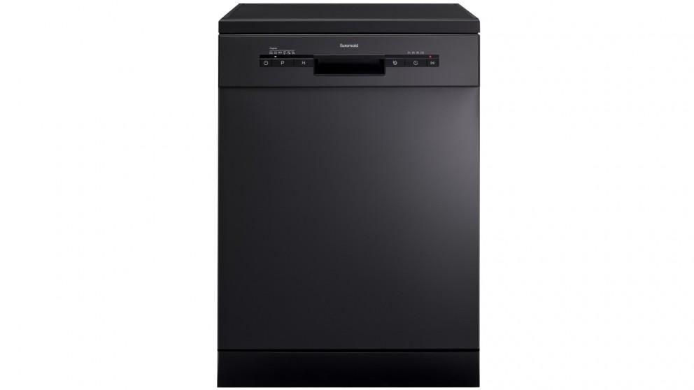 Euromaid Eclipse 60cm 14 Place Setting Freestanding Dishwasher – Black Stainless Steel