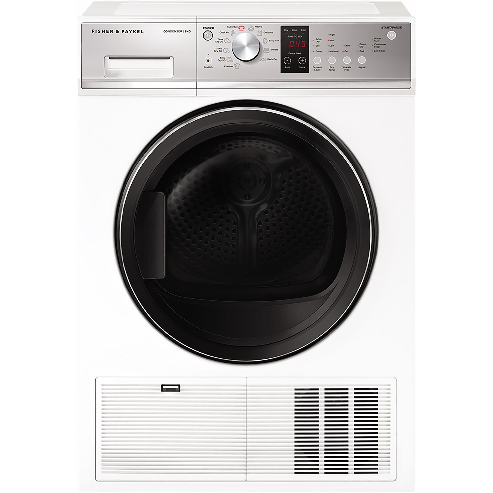 Fisher & Paykel DE8060P3 8kg Condensing Dryer (White)
