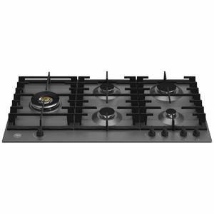 Bertazzoni 90cm Modern Series Natural Gas Cooktop with Lateral Dual Wok P905LMODNE