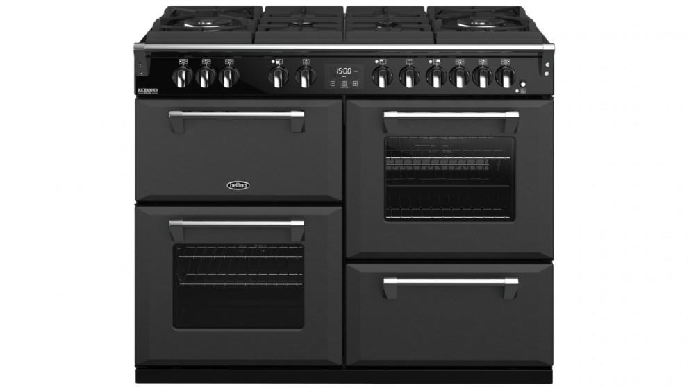 Belling 1100mm Richmond Deluxe Dual Fuel Gas-Through-Glass Range Cooker – Graphite