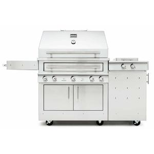 Kalamazoo Outdoor Gourmet Hybrid Fire Freestanding Natural Gas Grill with Side Burner K750HS-AU-NG-S4