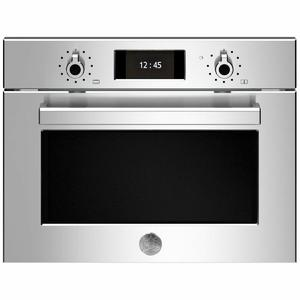 Bertazzoni 45cm Professional Series Combi-Microwave Compact Built-In Oven F457PROMWTX