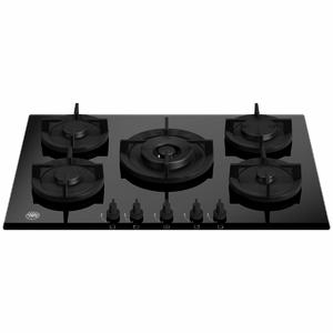 Bertazzoni 75cm Modern Series Natural Gas Cooktop with Central Wok Burner P755CMODGNE