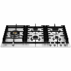 Bertazzoni 90cm Modern Series Natural Gas Cooktop with Lateral Dual Wok P905LMODX