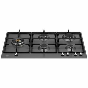 Bertazzoni 90cm Heritage Series Natural Gas Cooktop with Lateral Dual Wok P905LHERNE