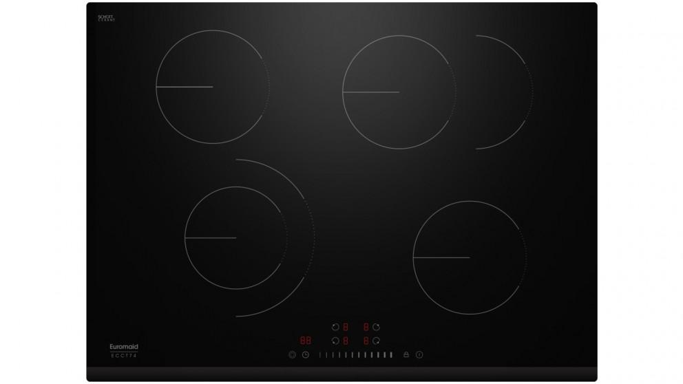 Euromaid Eclipse 700mm 4 Zone Ceramic Cooktop