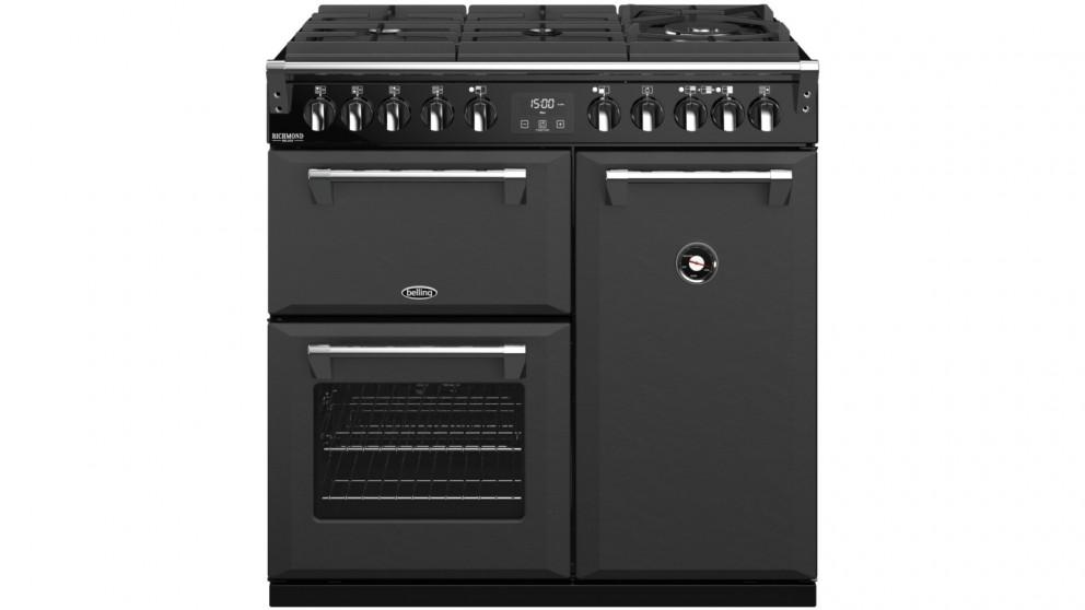 Belling 900mm Richmond Deluxe Dual Fuel Gas-Through-Glass Range Cooker – Graphite