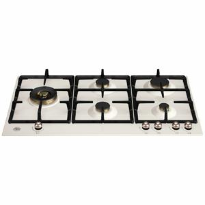 Bertazzoni 90cm Heritage Series Natural Gas Cooktop with Lateral Dual Wok P905LHERAC