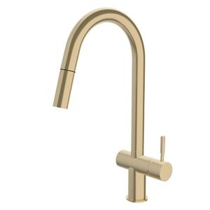 Sussex Taps Brushed Brass Gold Voda Pull Out Sink Mixer Tap VSMPO-40