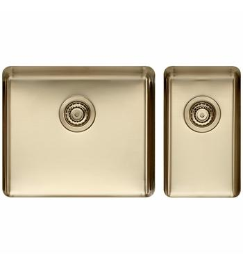 Titan Large and Small Bowl Sink Pearl Gold TSPG5228