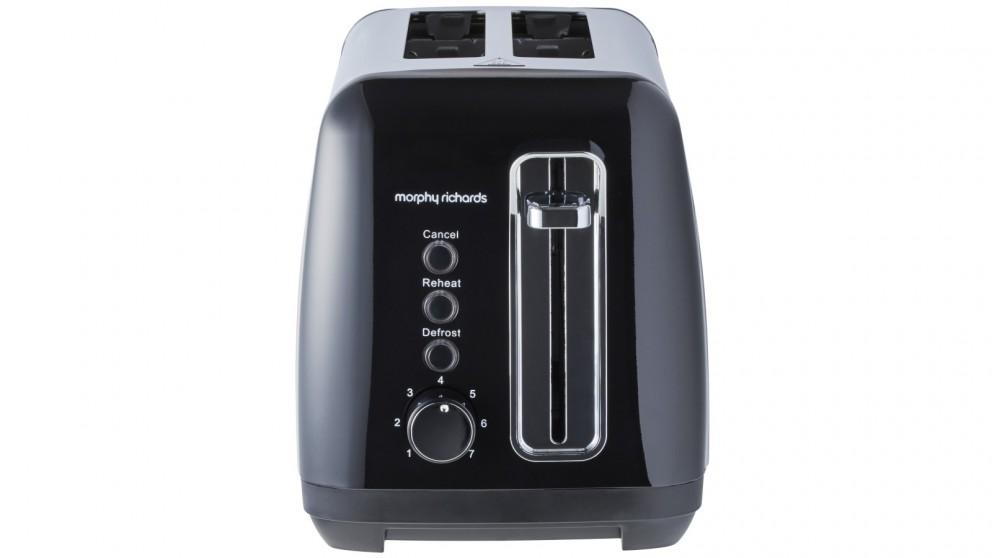 Morphy Richards Equip 2-Slice Toaster – Black Stainless Steel