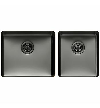 Titan large and Medium Bowl Sink Gunmetal TSGM4052