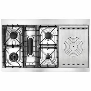 ILVE Majestic 120cm Freestanding Dual Fuel Oven/Stove With Cast Iron Plate M12SDNE3SSC