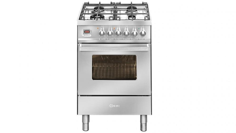 ILVE 600mm Single Electric Oven Freestanding Cooker with Gas Cooktop – Stainless Steel