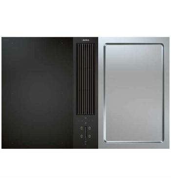 BORA 77cm Classic Induction Cooktop with Teppanyaki Grill & Integrated Ventilation System CKA2FIT