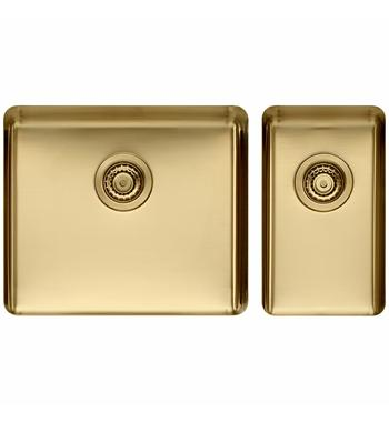 Titan Large and Small Bowl Sink Champagne TSCH5228