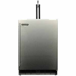 Kalamazoo Outdoor Gourmet 24″ Single Tap Outdoor Refrigerated Keg Tapper HPA24TO-3-1R1L-M6