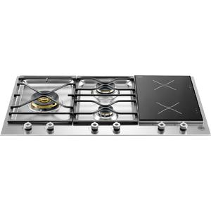 Bertazzoni 90cm Professional Series Natural Gas Cooktop with Induction Zones PM363I0X