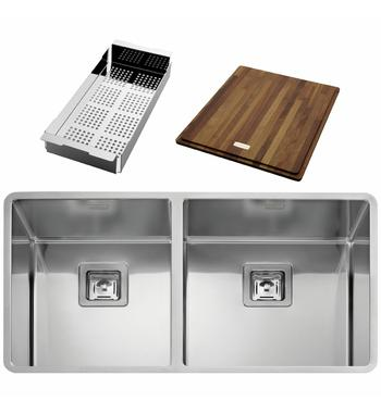 Artinox Radius 2V90 Double Bowl Sink with Accesorries RAACC2V90