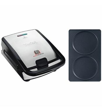 Tefal Snack Collection Sandwich and Waffle Maker with Pancake Plate Attachment SW852-8010