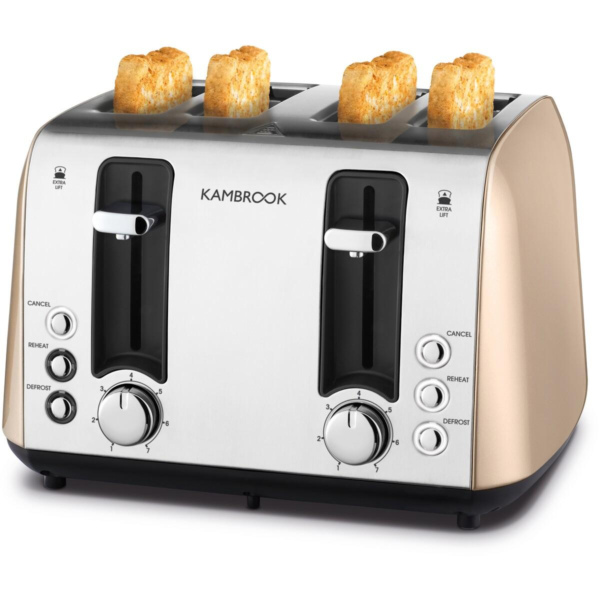 Kambrook Deluxe Collection 4 Slice Toaster – Champagne