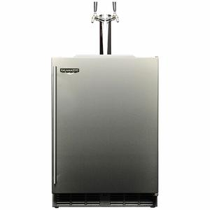 Kalamazoo Outdoor Gourmet 24″ Double Tap Outdoor Refrigerated Keg Tapper HPA24TO-3-1R2L-S4