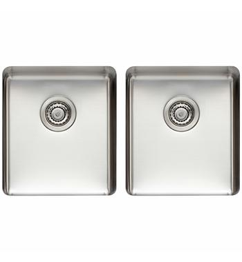 Titan Medium and Medium Double Bowl Sink Brass TSSS4040