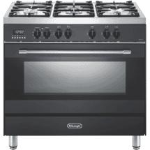 DeLonghi 90cm Dual Fuel Upright Cooker Anthracite