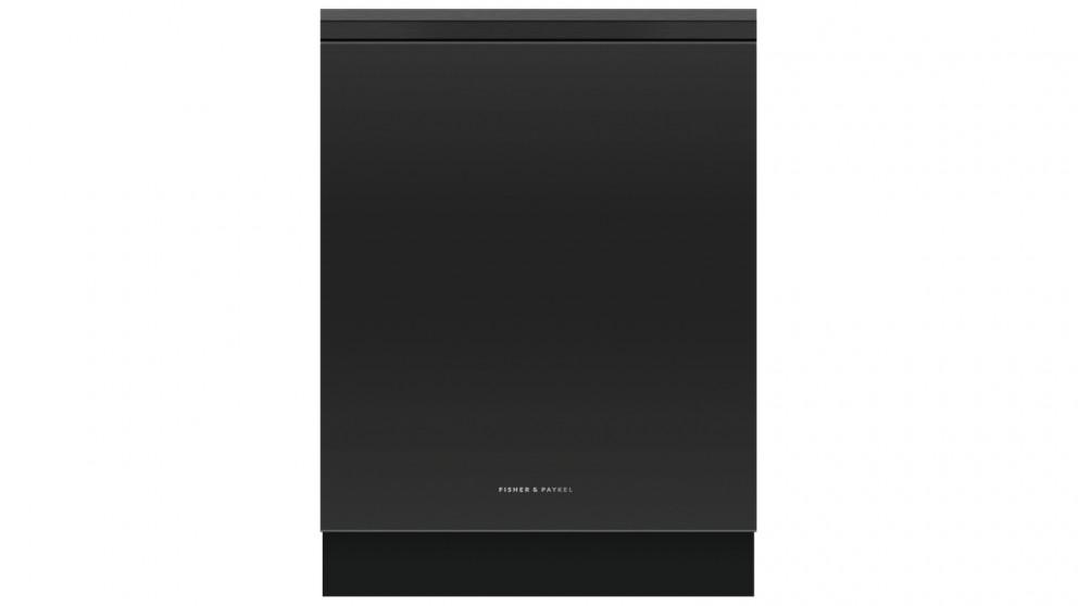 Fisher & Paykel 15 Place Setting Built-under Dishwasher – Black Glass