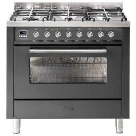 ILVE 90cm Dual Fuel Freestanding Cooker – Graphite