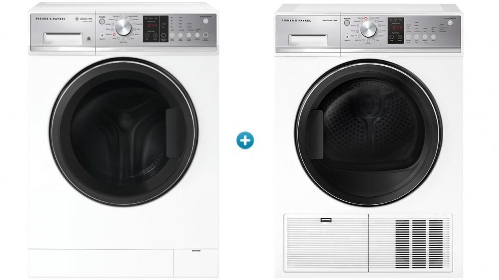 Fisher & Paykel 9kg Series 5 Front Load Washing Machine with 8kg Heat Pump Condensing Dryer Package