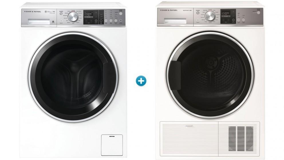 Fisher & Paykel 11kg Series 9 Front Load Washing Machine with 9kg Heat Pump Dryer Package