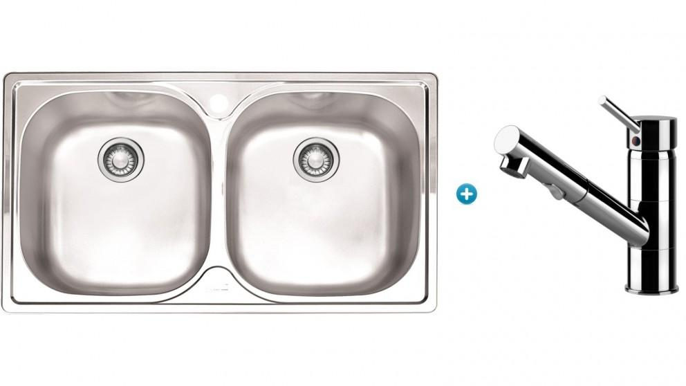 Franke Aurora Kitchen Sink and Eclipse Pull-out Mixer Package