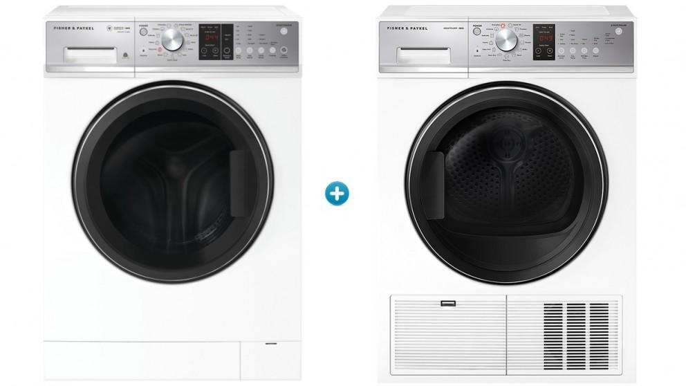 Fisher & Paykel 8kg Series 5 Front Load Washing Machine with Heat Pump Condensing Dryer Package