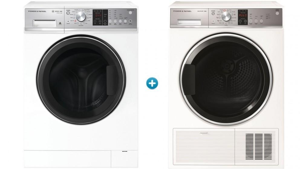 Fisher & Paykel 9kg Series 5 Front Load Washing Machine with 9kg Series 7 Heat Pump Condensing Dryer Package