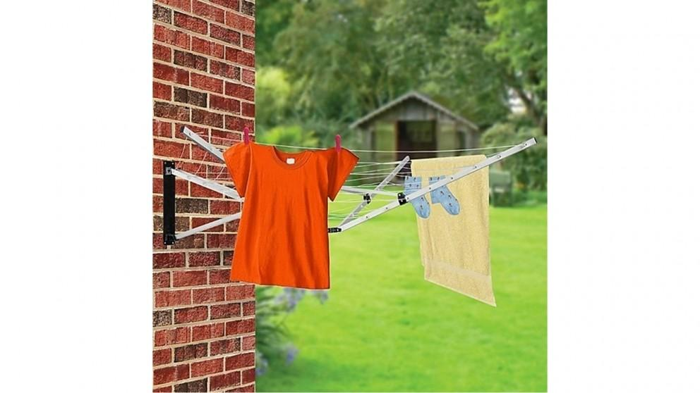 Serrano 26m 5 Arm Wall Hang Mountable Clothes Airer Dryer in Bathroom/Kitchen