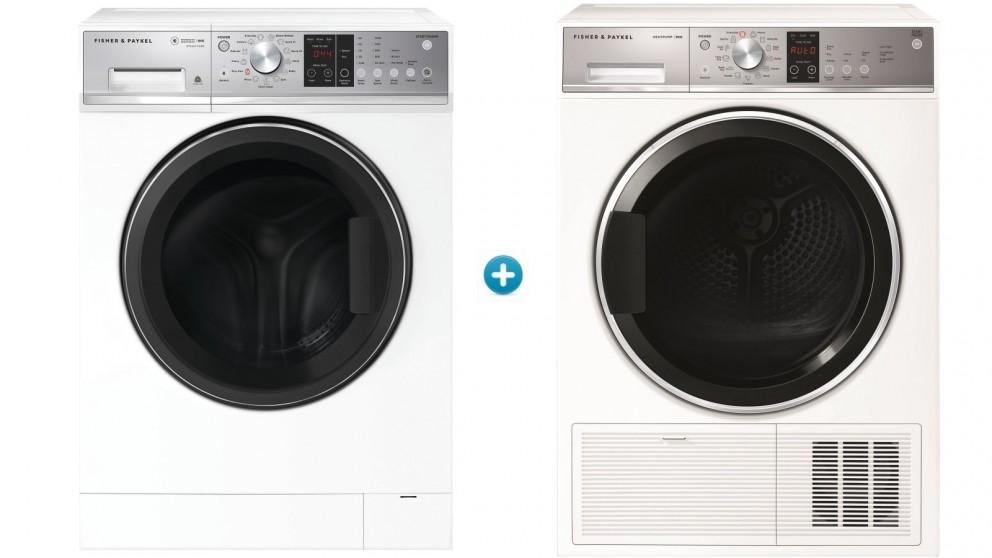 Fisher & Paykel 8kg Series 5 Front Load Washing Machine with 9kg Series 7 Heat Pump Condensing Dryer Package