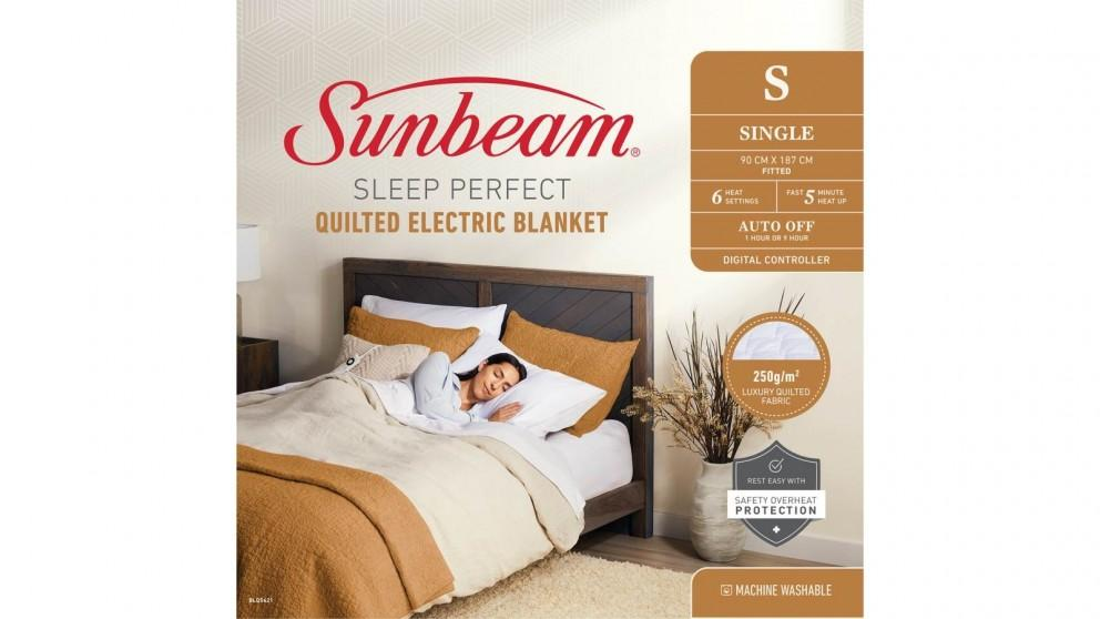 Sunbeam Sleep Perfect Quilted Single Electric Blanket