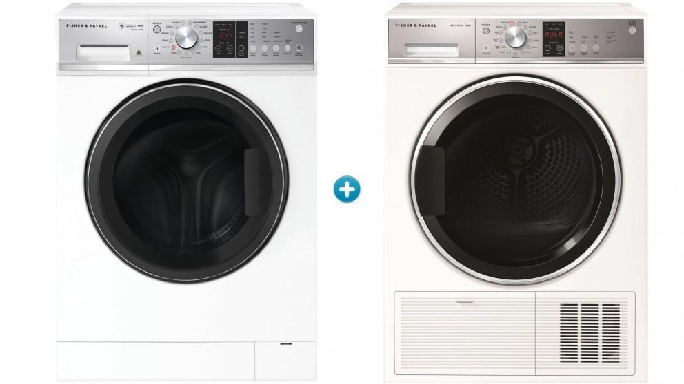 Fisher & Paykel 10kg Series 5 Front Load Washing Machine with 9kg Series 7 Heat Pump Condensing Dryer Package