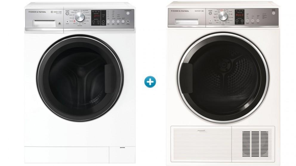 Fisher & Paykel 8.5kg Series 5 Front Load Washing Machine with 9kg Series 7 Heat Pump Condensing Dryer Package
