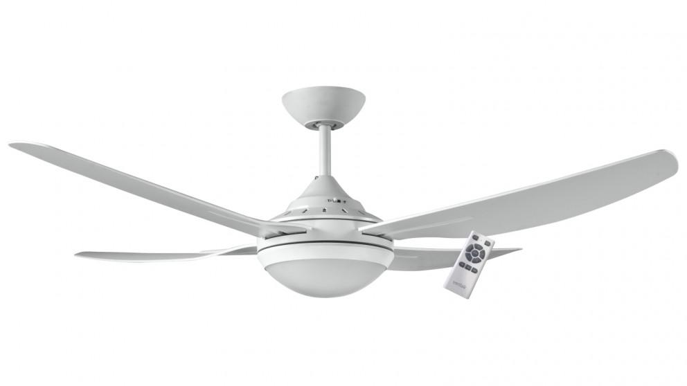 Ventair Royale II DC 132cm 4 Blade Ceiling Fan with Light – White