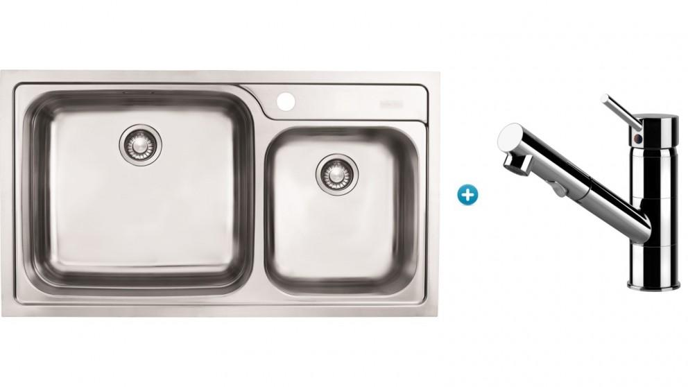 Franke Karst Kitchen Sink and Eclipse Pull-out Mixer Package