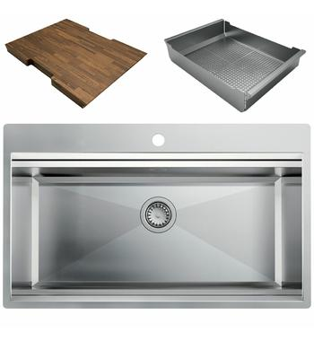 Artinox Layer 86 Workstation Sink with Accessories LACCBRP086