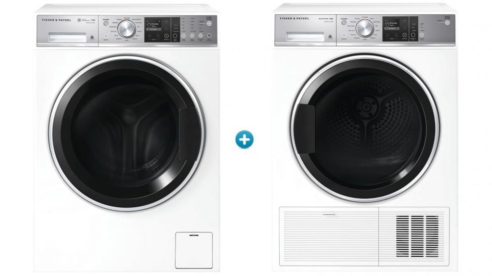 Fisher & Paykel 11kg Series 9 Front Load Washing Machine + 9kg Series 9 Heat Pump Condensing Dryer Package