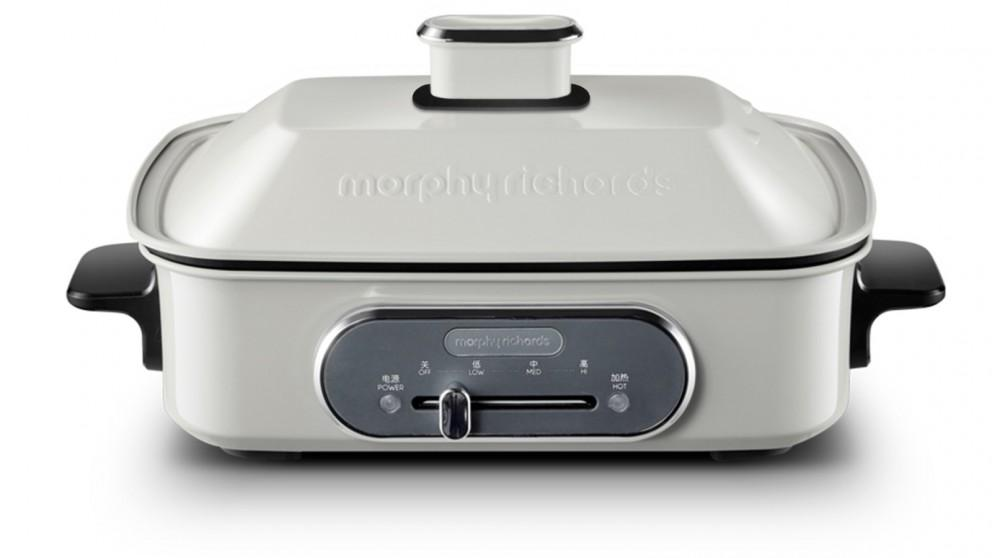 Morphy Richards Multifunction Cooking Pot with Hot Pot – White