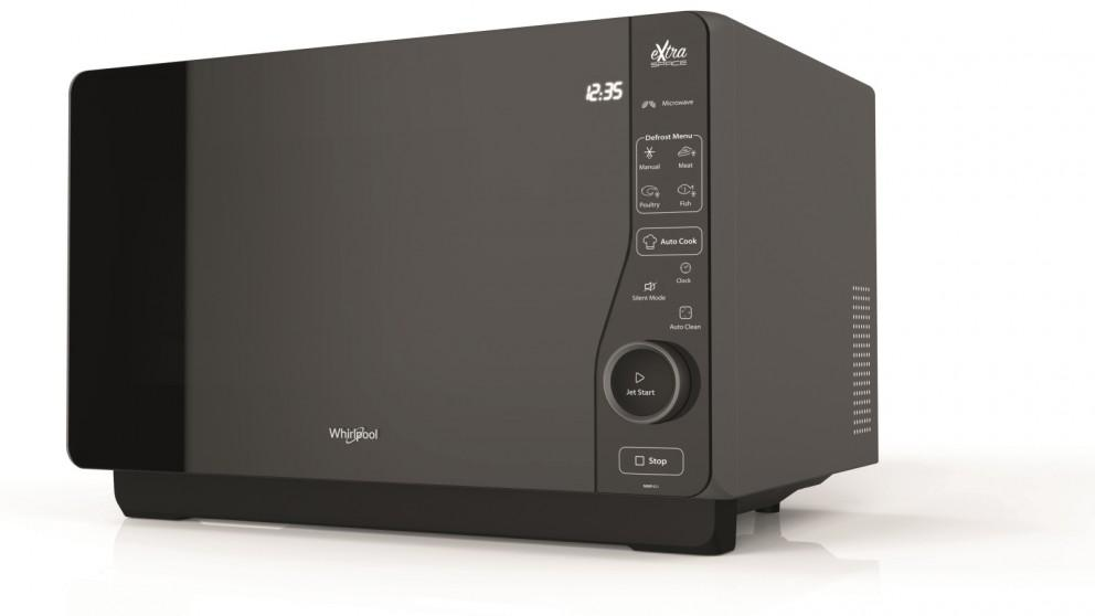 Whirlpool 30L Flatbed Microwave with Grill – Black
